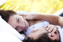 Closeup on loving couple Royalty Free Stock Photos