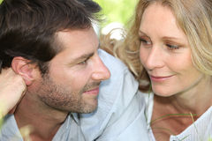 Closeup of loving couple Royalty Free Stock Photography