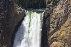Closeup Lower Yellowstone Falls Wyoming Stock Photos