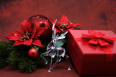 Closeup of luxurious christmas decorations Stock Images