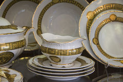 Closeup of luxury tableware Royalty Free Stock Image