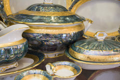 Closeup of luxury tableware Royalty Free Stock Photos