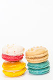 Closeup Macaroon on white background Royalty Free Stock Photography