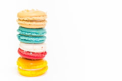 Closeup Macaroon on white background Royalty Free Stock Images