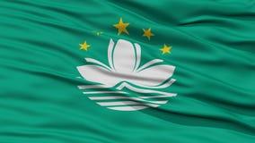 Closeup Macau Flag Royalty Free Stock Images