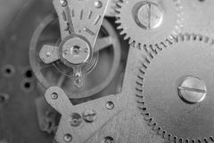 Closeup Macro of Clock Mechanism Stock Image