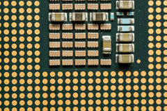 Closeup Macro of a Computer CPU Processing Chip Stock Photography
