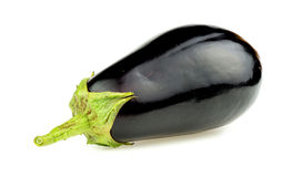 Closeup macro of fresh organic Australian eggplant Stock Photo