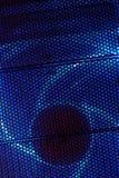 Closeup macro grid. Blue abstract circle grid background Royalty Free Stock Image