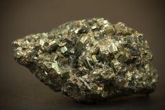 Closeup macro image of black lead zinc ore with irregular chaotic texture Royalty Free Stock Image