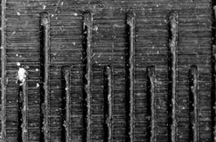 Closeup macro photo, abstract background, of a dividing metal line, 5 mm Stock Photos