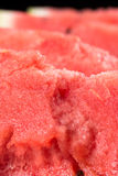 Closeup macro slices of watermelons background fruits. royalty free stock photo