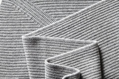 Closeup macro texture of knitted cotton fabric Stock Photos