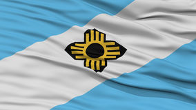 Closeup Madison Flag. Capital of Wisconsin State, Flying in the Wind Royalty Free Stock Image