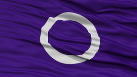 Closeup of Maebashi Flag, Capital of Japan Prefecture Stock Images