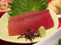 Closeup of Maguro Tuna Sashimi Royalty Free Stock Photo