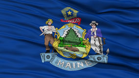 Closeup Maine Flag, USA state Royalty Free Stock Images