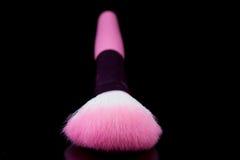 Closeup of makeup brush and blush Royalty Free Stock Photos