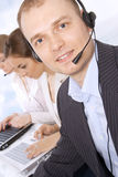 Closeup of male customer service representative Royalty Free Stock Photography