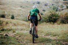Closeup of a male cyclist Stock Photos