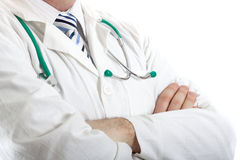 Closeup of a male doctor Royalty Free Stock Image