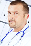 Closeup of male doctor in office Stock Photo
