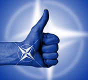 Closeup of male hand showing thumbs up sign Royalty Free Stock Photo