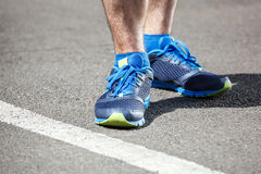 Closeup of a male runner standing Royalty Free Stock Photography