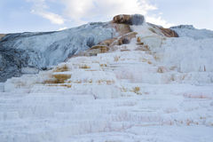 Closeup of Mammoth Hot Springs in Yellowstone National Park Royalty Free Stock Image