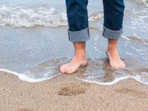 Closeup of man feets Royalty Free Stock Photo