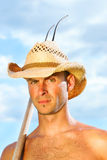 Closeup of man with hat Royalty Free Stock Photo
