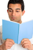 Closeup of a man reading a book Royalty Free Stock Photos