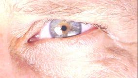 Closeup of man`s eye stock video footage