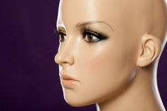 Closeup of mannequin face Stock Image