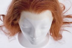Closeup of Mannequin Female Head with Wig Royalty Free Stock Image