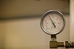 Closeup of manometer, measuring gas pressure. Stock Photos