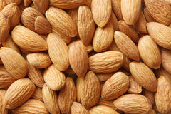 Closeup of many almand nuts Royalty Free Stock Images