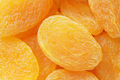Closeup of many dried apricots Royalty Free Stock Photo