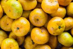 Closeup many oranges Royalty Free Stock Photography