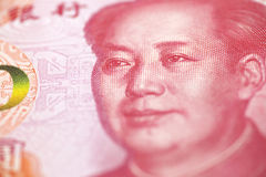 Closeup of Mao on chinese banknote Royalty Free Stock Photo
