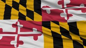 Closeup Maryland Flag, USA state Stock Photos