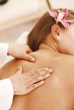 Closeup of back massage Stock Photo