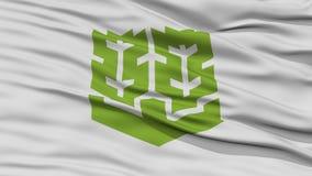 Closeup of Matsuyama Flag, Capital of Japan Prefecture Royalty Free Stock Image