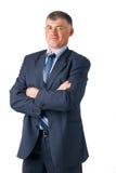 Closeup of mature businessman. royalty free stock photography