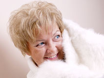 Closeup of mature woman Royalty Free Stock Images