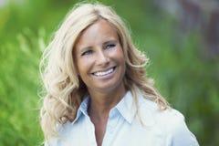 Closeup Of A Mature Woman Stock Photography