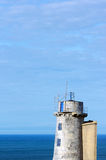 Closeup of matxitxako old lighthouse Royalty Free Stock Photography