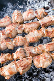 Closeup of meat cooking Royalty Free Stock Photos