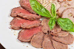 Closeup meat cuts Royalty Free Stock Images