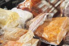 Closeup Of Meat Displayed At Counter Royalty Free Stock Photos